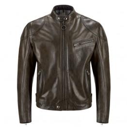 Belstaff Supreme Leather Jacket-Black/ Brown