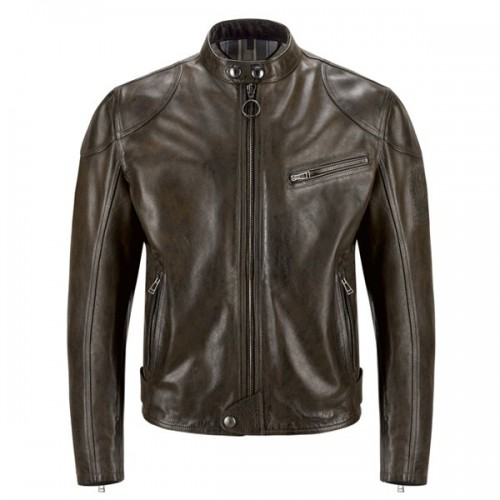 Belstaff Supreme Leather Jacket-Black/ Brown image #1
