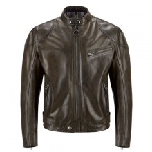 Belstaff Supreme Leather Jacket-Black/ Brown