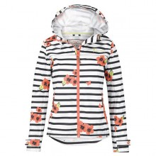 Cora Ladies Waterproof Jacket By Jack Murphy - French Stripe