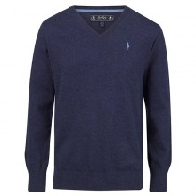 Victor Sweater Dark Blue by Jack Murphy