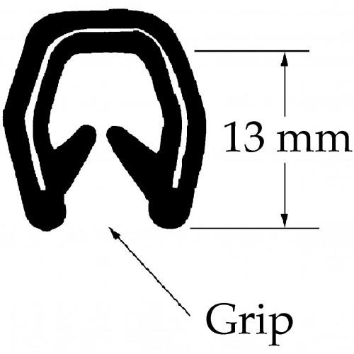 Edge Trim PVC - 13mm image #1