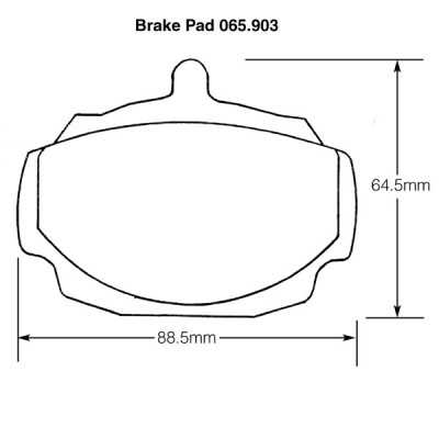 MGB and Triumph 2000 Brake Pads (Mintex)