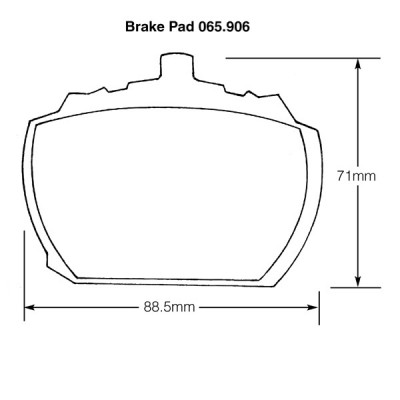MGBGTV8, Triumph, Vauxhall and Rover Brake Pads (Mintex)