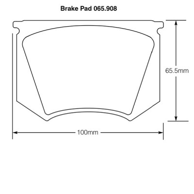 Triumph TR3/TR3A/TR4 and TR3B TSF series Brake Pads