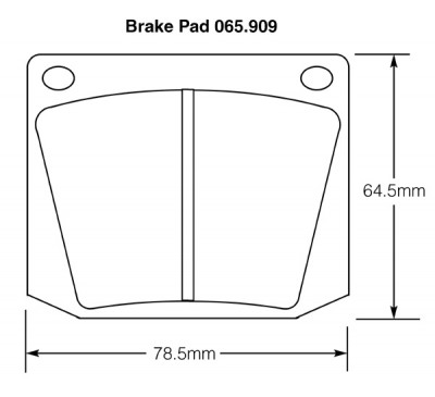Triumph, Lotus, Rover, Sunbeam, Morgan etc. Brake Pads