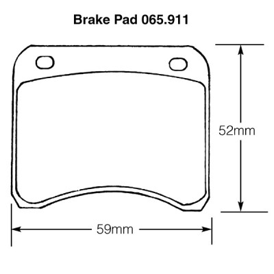 Mini Cooper 1961 to 1969 Brake Pads