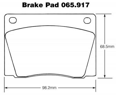 Aston Martin, Jaguar, Jensen, Lotus etc. Brake Pads (Mintex)