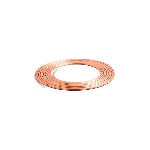 Brake Pipe Pure Copper 3/16 in 7.62m Roll image #1