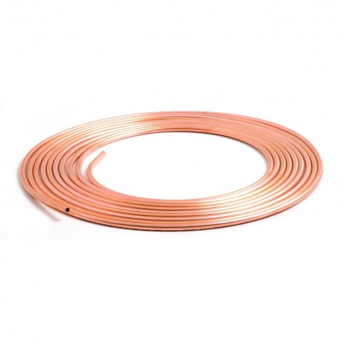 Brake Pipe Pure Copper 1/4 in 7.62m Roll image #1