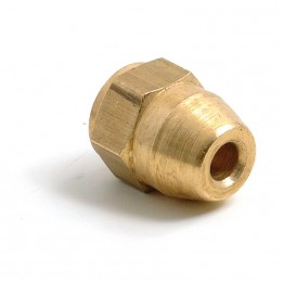 Brass 3/8 in UNF Pipe Nut (Female) for 3/16 in Pipe