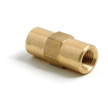Brass 3/8 in UNF In-Line Connector (Female) for 3/16 in Pipe