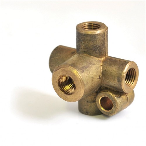 5-way Connector for 3/16 Pipe (4x 3/8 UNF  1x 1/8 NPT) image #1