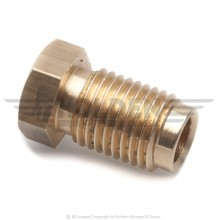 Brass 7/16 in UNF Pipe Nut (Male) for 1/4 in Pipe