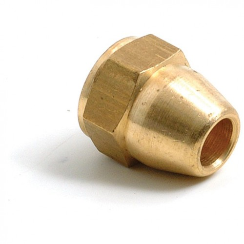 Brass 7/16 in UNF Pipe Nut (Female) for 1/4 in Pipe image #1