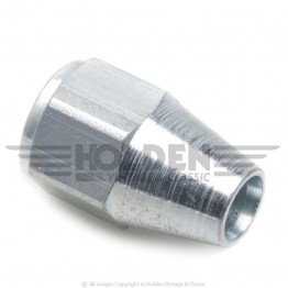 Steel 7/16 in UNF Pipe Nut (Female) for 1/4 in Pipe