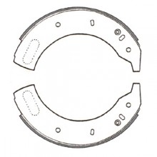 Land Rover 109 Front Brake Shoes 11 in diameter