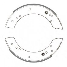 Land Rover 109 Rear Brake Shoes 11 in diameter