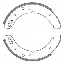 Land Rover (Early) Transmission (Hand) Brake Shoes 9 in dia.