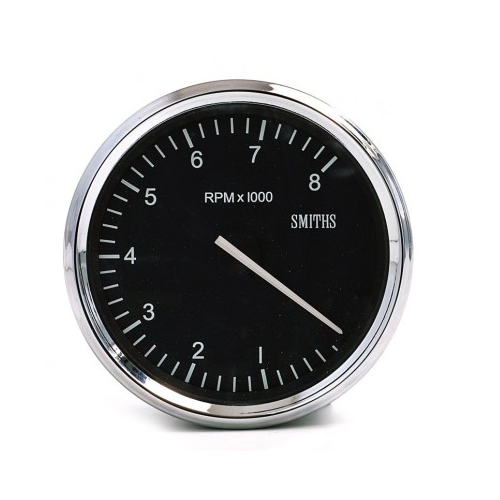 Smiths Classic Motorsport 80mm Tachometer - 0-8000 rpm