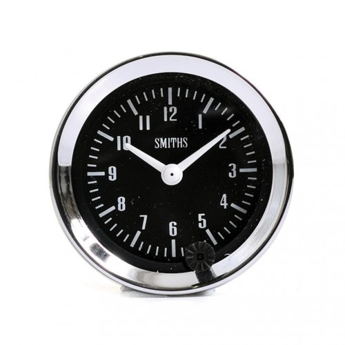 Smiths Classic Clock 52mm diameter - Black Dial image #1
