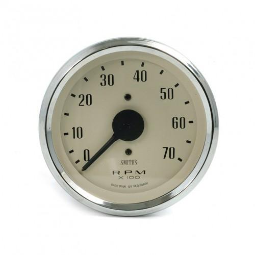 Smiths Classic 80mm Tachometer - 0-7000 rpm - Magnolia image #1