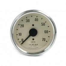 Smiths Classic 80mm Tachometer - 0-7000 rpm - Magnolia