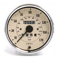 Smiths Classic 100mm Speedometer 0-170mph - Mechanical - Magnolia