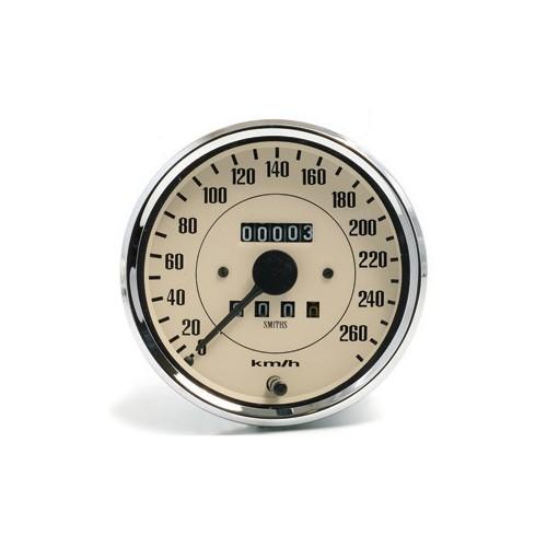 Smiths Classic 100mm Speedometer 0- 260kph - Mechanical - Magnolia image #1