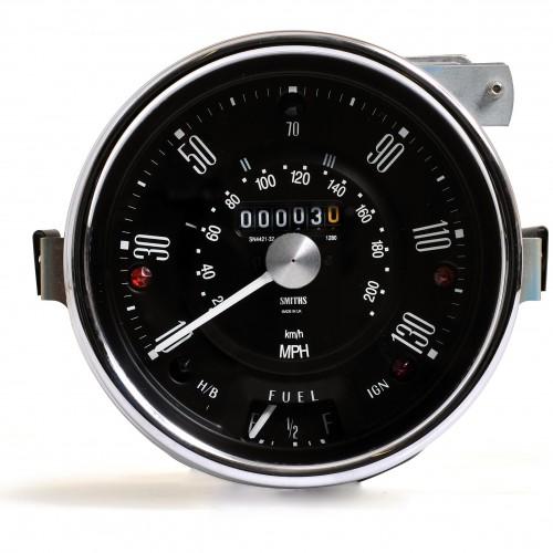 Smiths Classic Mini Speedometer - 130mph - Black image #1