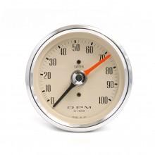 Smiths Classic 80mm Max Hand Tacho - 0-10 000 rpm - Magnolia
