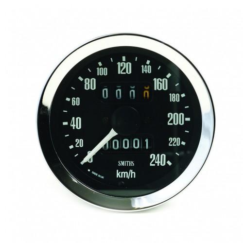 Smiths Classic 80mm Speedometer 0-240kph - Mechanical image #1