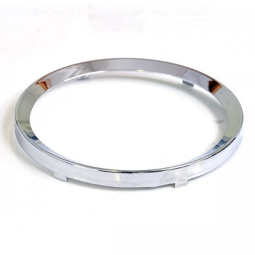 52mm - Rim Half Vee for 52mm Gauges - Chrome image #1