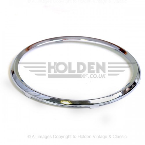52mm - Rim Full Vee for 52mm Gauges - Chrome image #1