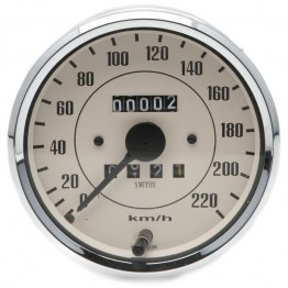 Smiths Classic 100mm Speedometer 0- 220kph - Mechanical - Magnolia