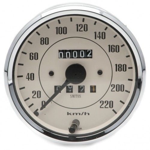 Smiths Classic 100mm Speedometer 0- 220kph - Mechanical - Magnolia image #1