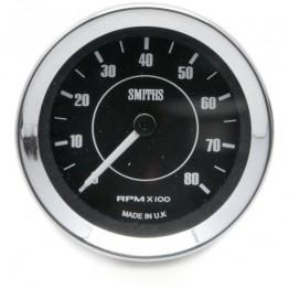 Smiths Classic Tachometer - 52mm dia. Black