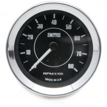 Smiths Classic Tachometer - 52mm dia. Black