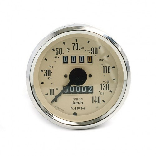 Smiths Classic 80mm Speedometer 0-140mph - Mechanical - Magnolia image #1