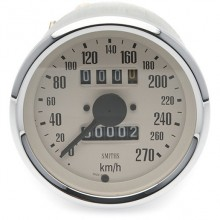 Smiths Classic 80mm Speedometer 0-270kph - Mechanical - Magnolia