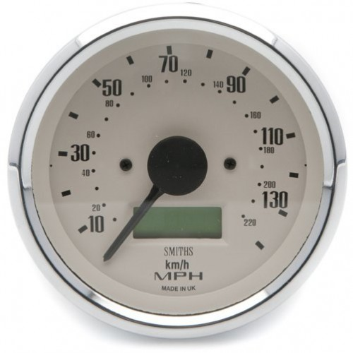Smiths Classic 80mm Speedometer 0-140mph - Electronic - Magnolia image #1