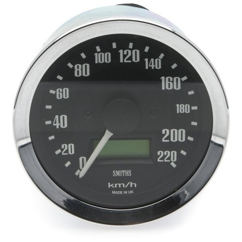 Smiths Classic 80mm Speedometer - 0-220kph - Electronic image #1