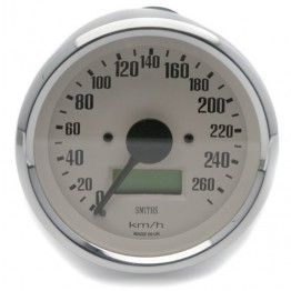 Smiths Classic 80mm Speedometer - 0-270kph - Electronic - Magnolia
