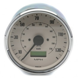 Smiths Classic 100mm Speedometer - 0-140mph - Electronic - Magnolia