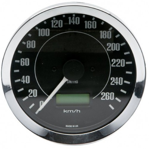 Smiths Classic 100mm Speedometer - 0-260kph - Electronic image #1