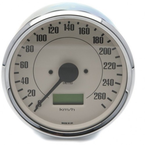 Smiths Classic 100mm Speedometer - 0-260kph - Electronic - Magnolia image #1