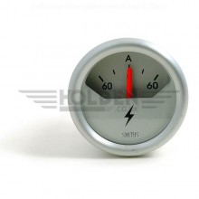 AMMETER TELEMETRIC 60-0-60  52 MM DIA CHROME RIM