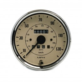 Smiths Classic 100mm Speedometer 0-140mph - Mechanical - Magnolia