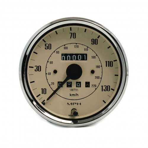 Smiths Classic 100mm Speedometer 0-140mph - Mechanical - Magnolia image #1