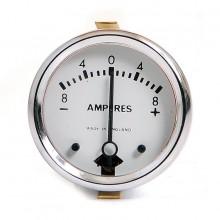 Ammeter 8-0-8 White Dial